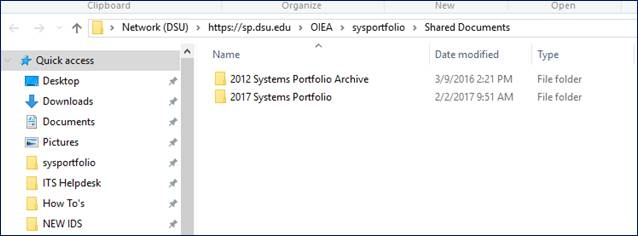 FIle Explorer screen shot with new Quick Access favorite