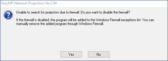 Firewall notification pop up screen shot